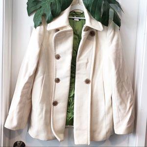 J Crew Cream Wool Coat